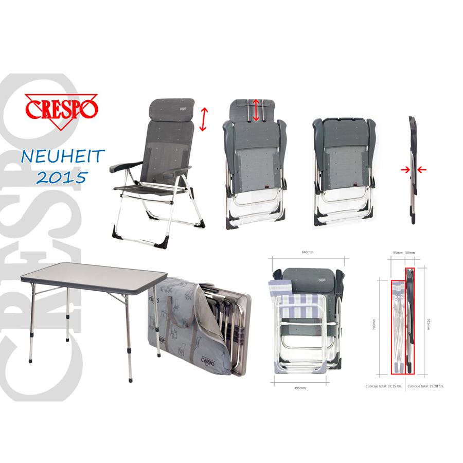 Camping klappstuhl mit tisch  Camping-Freizeit24.de - Crespo Stuhl + Tisch Set Valencia